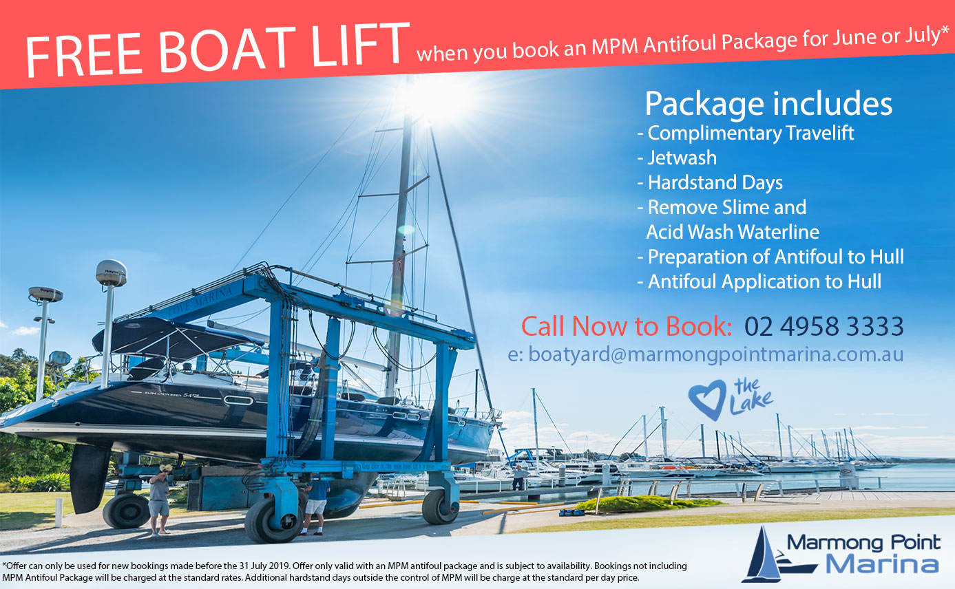 Free boat lift with new Antifoul Package for June or July*